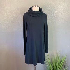 CAbi cowl neck sweater dress medium